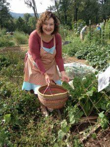 Denise working in the community garden