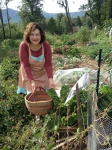 Love being able to garden for vegetables with a mountain view