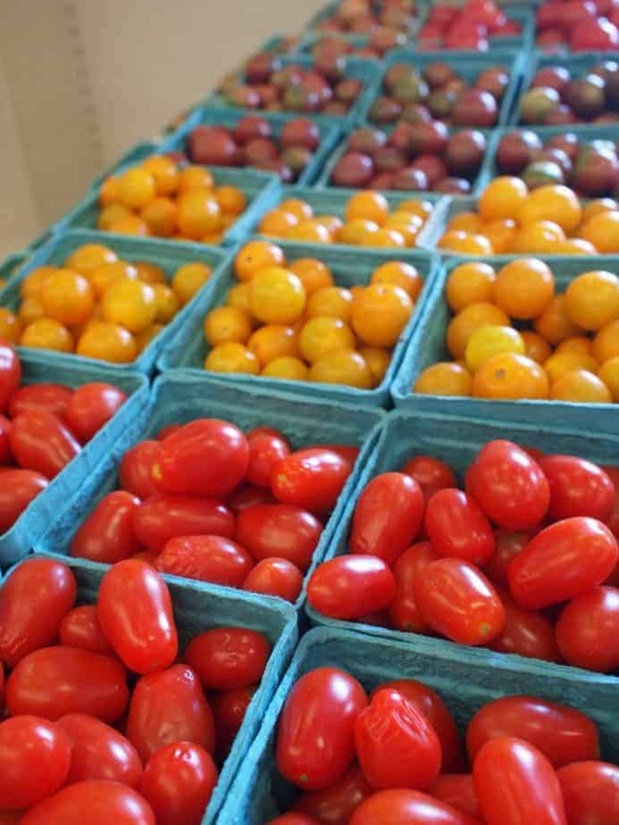 Tomatoes from the farmers market