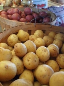 Potatoes that are local from the farmer's market