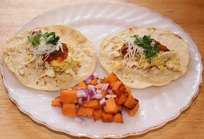 Breakfast Egg Tacos