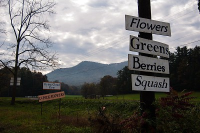 Sign for a local farm