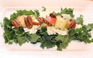 Apple pecan Kale salad