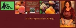 Banner for fresh approach to eating