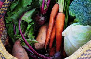 Seasonal Vegetables in a basket