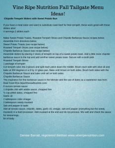 Ideas for tailgate menu