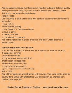 Tomato Peach Basil Pico de Gallo
