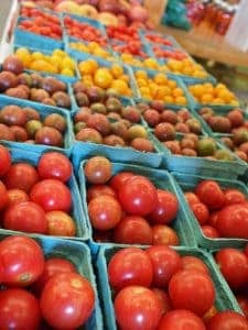 Cherry tomatoes at farmers market