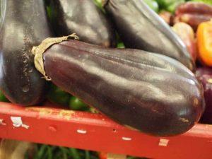 Eggplant at farmers market