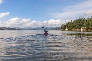 taking a break on the kayak