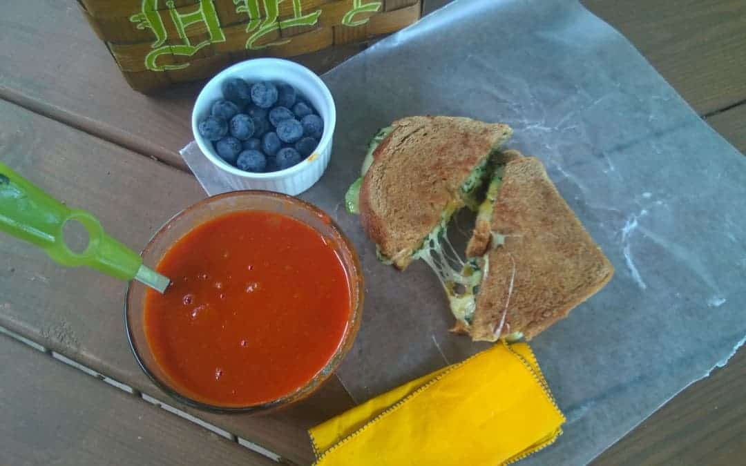 Take Your Lunch to Work Challenge: Grown-Up Grilled Cheese and Homemade Tomato Soup