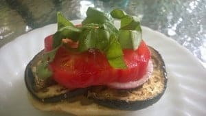 Although, I love a little cheese, you can make a grilled eggplant sandwich with a delicious vegan sauce instead of the cheese