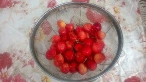 Local cherries from the farmers market