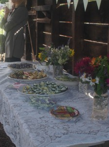 Lovely summer table at the summer garden party