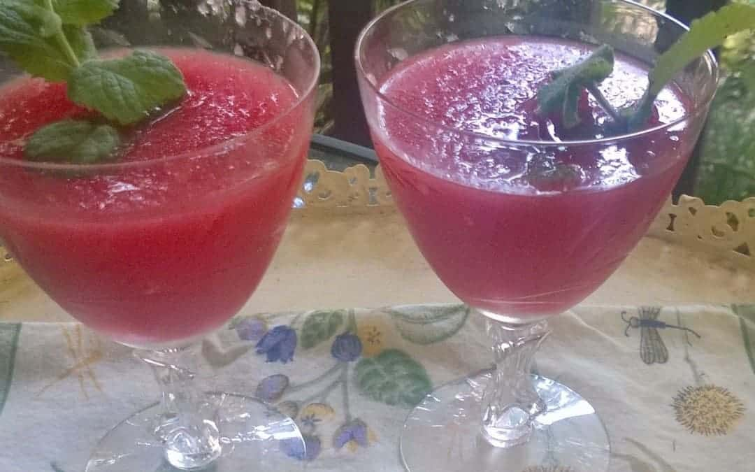 Watermelon mint sipper for two to cool off