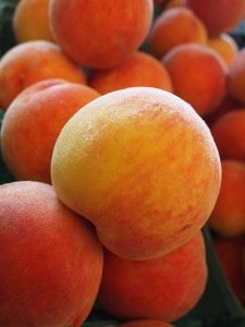 There is nothing like a peach in the summer