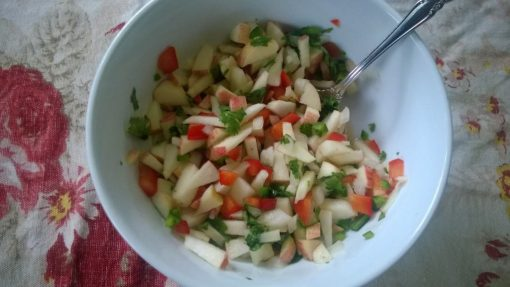 It is amazing how good some salsa is made with some local apples