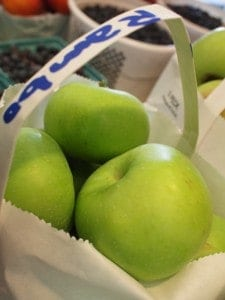 You haven't had a Granny Smith apple until you had a fresh local one from the farmer's market