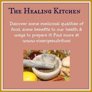 Let food be your medicine too! Food has healing properties.