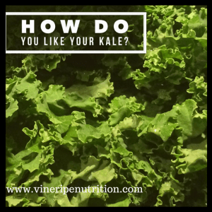This poster asks how do you like your kale? I say any way I can!
