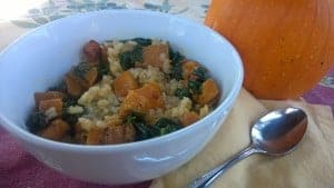 Rissotto with roasted butternut squash and kale is one of my favorite ways to eat it.