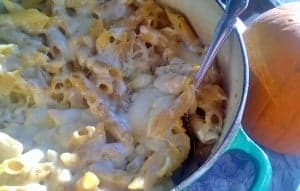 This macaroni and cheese includes butternut squash it is so delicious!