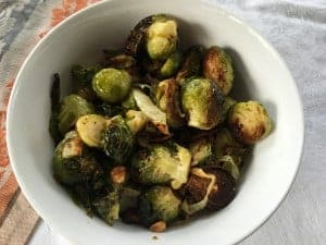 Roasted Brussels sprouts are so deliciious.