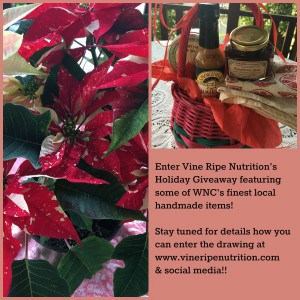 Win a local gift basket in the Vine Ripe Nutrition Holiday giveaway