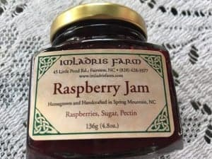 Imlardris Farm's raspberry jam makes a beautiful festive jam for the holidays.