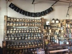 Wall of culinary and medicinal spices