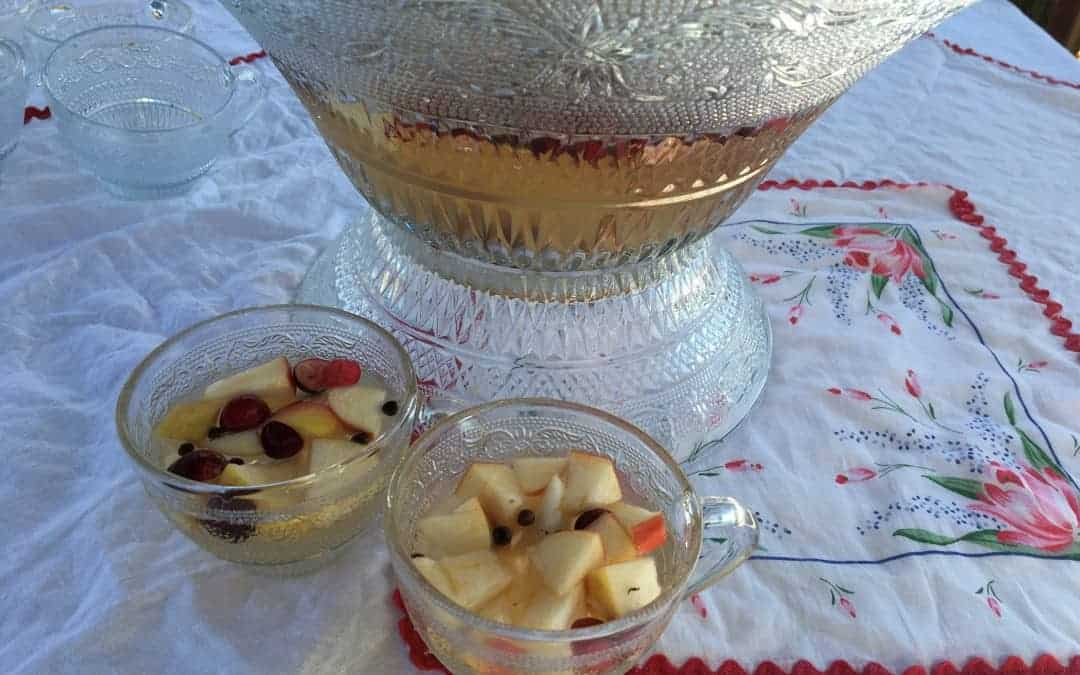 Have some apple cider sangria with your new years party