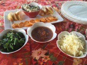 Fixings for the healthy holiday taco bar