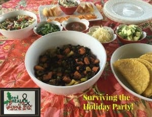 This healthy holiday party menu is a build your own taco bar