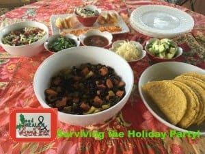 How to survive a holiday party? Make a healthy holiday menu idea and then try the tips on this post.