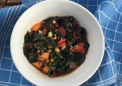 Kale, Tomato and White Bean Soup