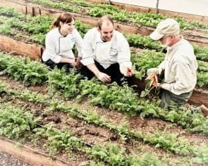 Chefs and gardener at the Biltmore Estate