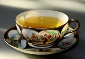 Green tea in a beautiful cup