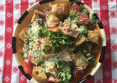 Summer Panzanella with Trout