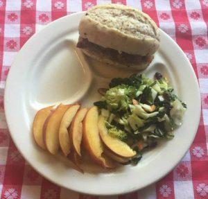 Sloppy Joe Sliders, Salad & Peaches