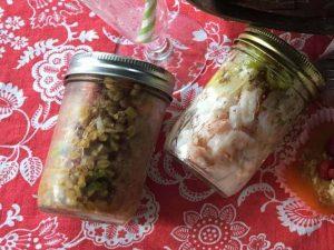 Carolina Pickled Shrimp and Farro Salad
