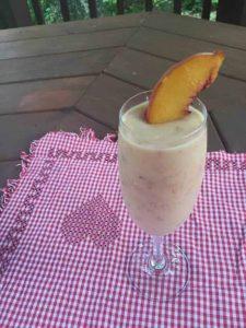 Peach Lassi fermented dairy beverage