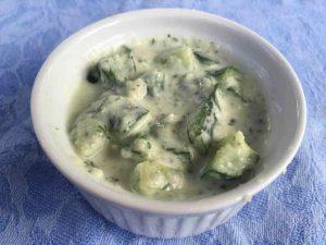 Raita made from yogurt which is fermented dairy
