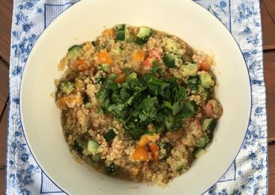 Quinoa Tabouli with a Southwest Twist