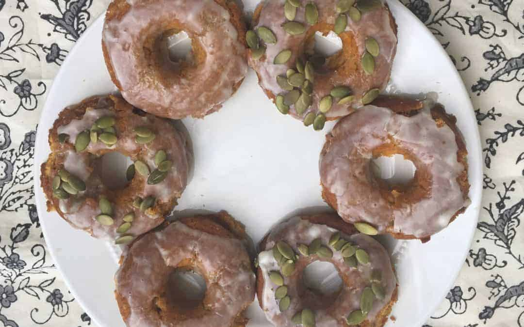 Pumpkin Donuts ready to eat