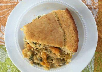 Winter Squash Pot Pie with Cornmeal Crust