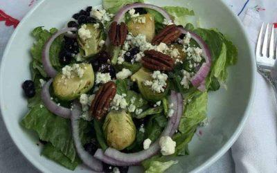 Wild Blueberry Holiday Salad with Wild Blueberry Vinaigrette