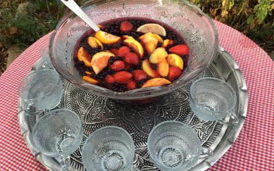 Festive Sangria with Wild Blueberries