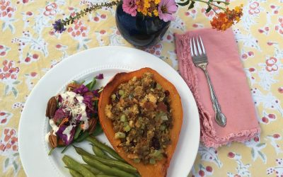 Simple Elegant Veggie Thanksgiving