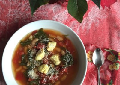 Italian Christmas Tortellini Soup