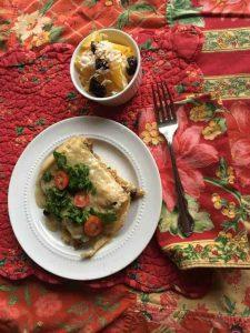 Recipe for Butternut Squash & Poblano Chilaquilas